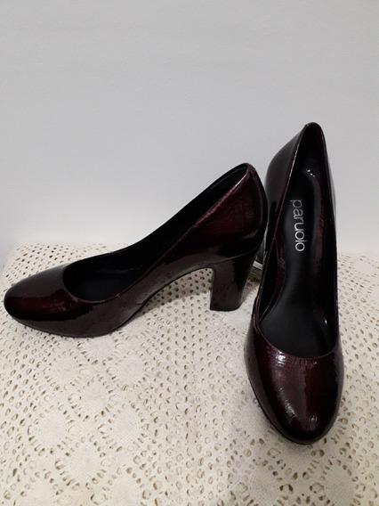 Paruolo Zapatos 100% Cuero Color Uva Igual A Nuevos Nro 37