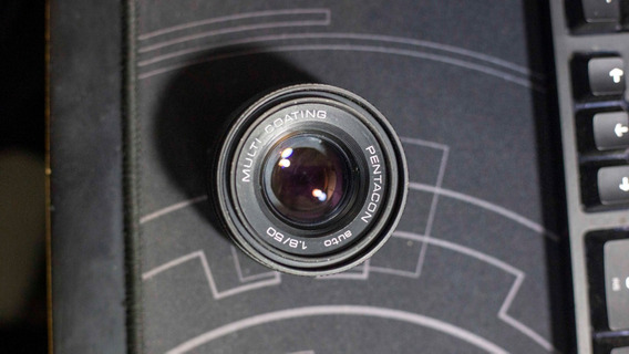 Lente Pentacon 50mm F1.8 Com Adaptador M42
