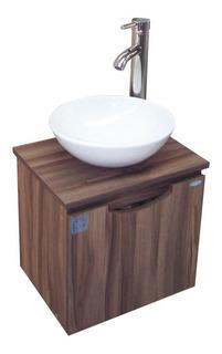 Tocador Nano Mueble Para Baño Con Espejo, Lavabo Y Llave