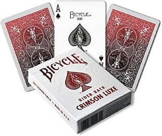 Naipes Poker Bycicle Rider Back Crimson Luxe - Premium