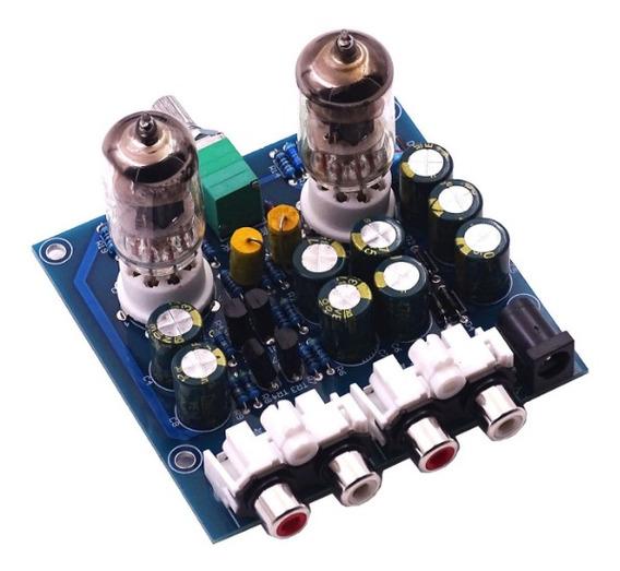 Pré-amplificador Em Kit Stereo Valvulado Alta Fidelidade Som Válvulas