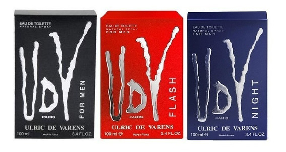 Kit 3 Perfume Udv For Men Udv Flash Udv Night 100ml Original