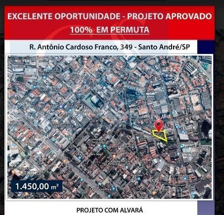 Terreno Para Venda, 0.0 M2, - Santo André - 3474