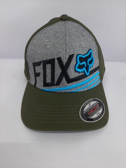 Gorra Fox Verde Olivo Con Azul Y Gris