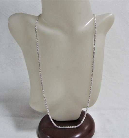Corrente Prata Cordão Baiano 2,5mm 70cm 18,1 Gramas 21970