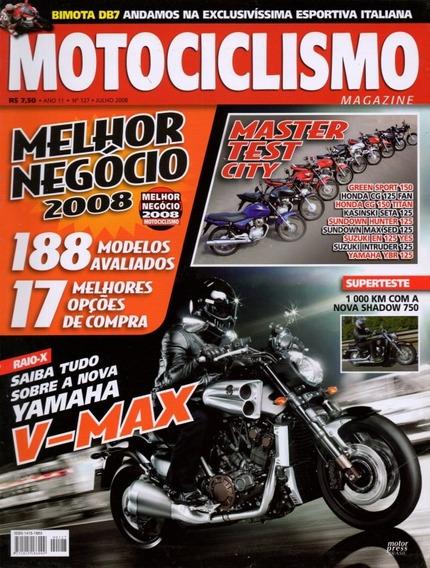 Motociclismo N°127 Yamaha V-max Shadow 750 Titan Cg 125 Fan