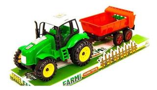 Tractor Chico Con Acoplado A Fricción