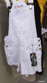 Macaquinho Jeans Branco