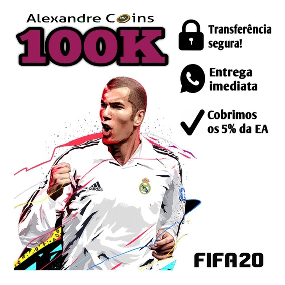 Fifa 20 Coins Ps4 100k Ultimate Team - Envio Imediato