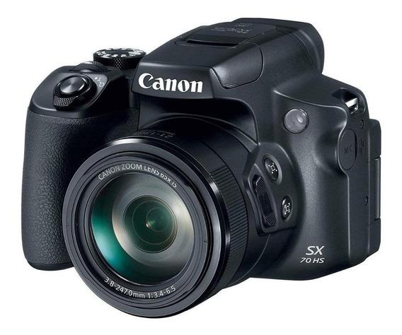 Canon PowerShot SX70 HS compacta avançada preta