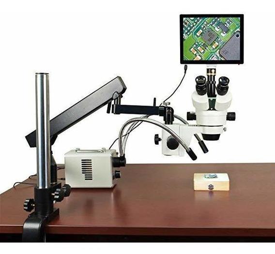 Omax 2.1x-225x 5mp Touchpad Screen Stereo Microscopio On A ®