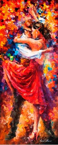 Poster Foto Leonid Afremov 40x100cm Obra Movimentos Do Tango