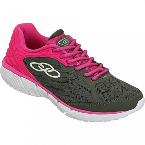Tênis Olympikus Mist 184 Chumbo/pink Feminino