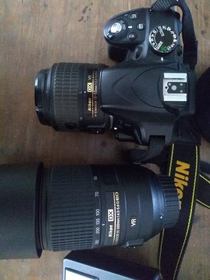 Cámara Nikon D3300 Casi Nueva, Con 2 Lentes Oportunidad