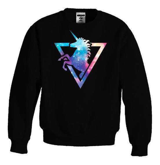 Sudadera Sweater Unicornio Galaxico Galaxia Moda Pony Colores V Caballos Unisex