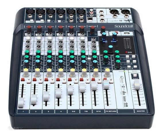 Mesa De Som Soundcraft Signature 10 Canais Mixer
