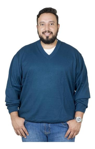 Malha Plus Size Bigshirts Gola V - Azul