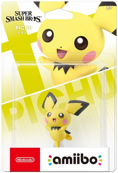 Amiibo Pichu Ultimate Smash Bros Nintendo Switch 3ds Pokemon
