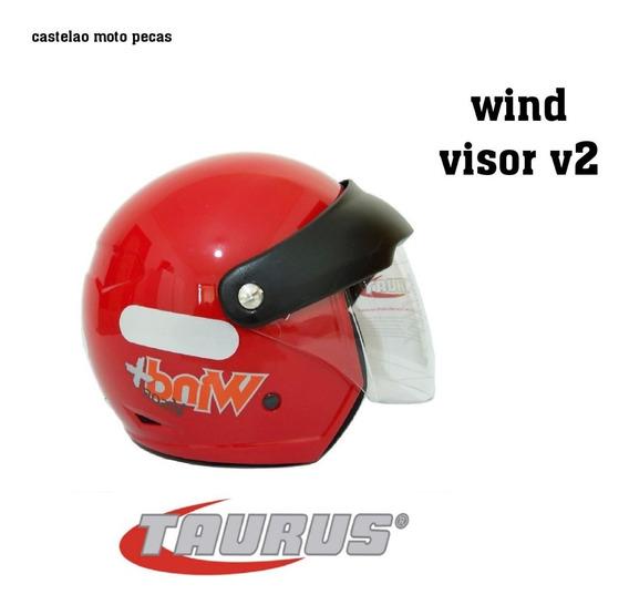 Capacete Taurus Wind Visor V2 Vermelho