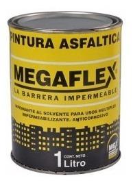 Pintura Asfáltica Base Solvente Megaflex 1 Litro