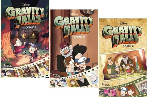 Pack Gravity Falls (3 Libros) - Comic 1, 2 Y 3 - Alex Hirsch
