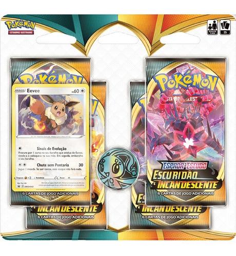 Card Game Pokémon Tcg Blister Escuridão Incandescente Eevee