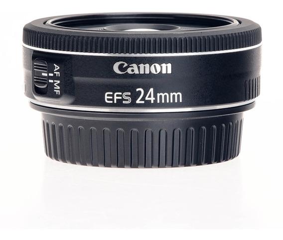 Lente Canon Ef-s 24mm F/2.8 Stm Cropada Pancake