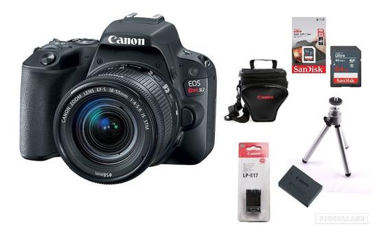 Câmera Canon Sl2 C/ 18-55mm + Bolsa + 64gb + Tripé + Bateria