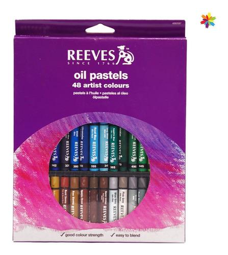 Oleo Pastel Reeves X 48 Colores Surtidos Barrio Norte
