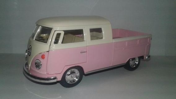 Miniatura Kombi Pickup Rosa Pink Escala 1:32 Abre Porta !