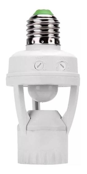 Soquete E27 Bocal Lampada Sensor De Movimento 360º Presença