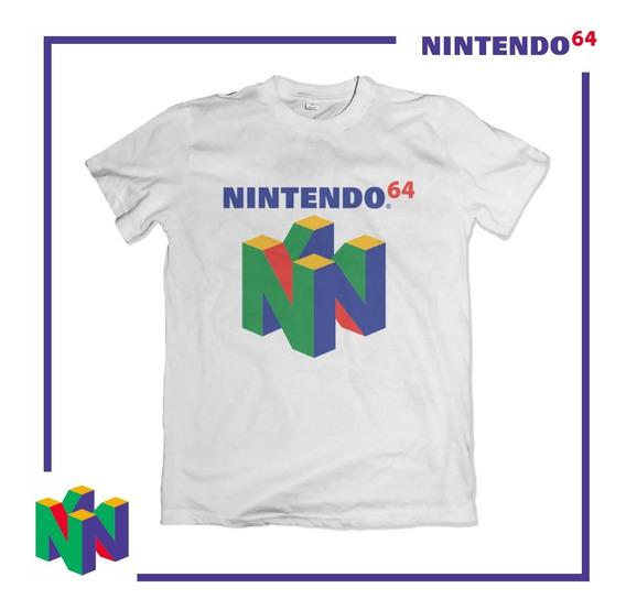 Camiseta Camisa N64 Nintendo 64 Videogame Super Mario