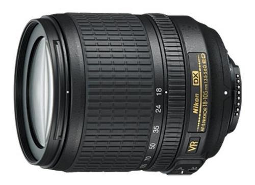 Lente Nikon 18-105mm + Tampas + Parasol, Usada, Limpa