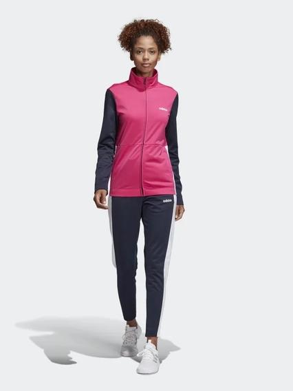 90 Buzo Adidas T L Para Mujer.con Lineas Rosadas.s Ropa y