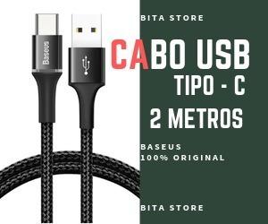 Cabo Usb Tipo C 2m Baseus Original - Promoção Limitada