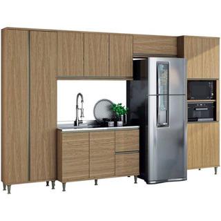 Cozinha Completa Belaflex 12 Portas 2 Gavetas 5 Peças