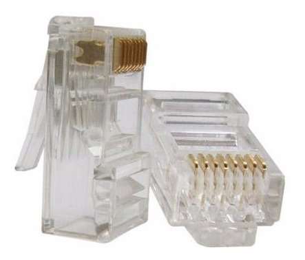 Conector Rj45 Furukawa Banhado Ouro Computador Pacote 100pç