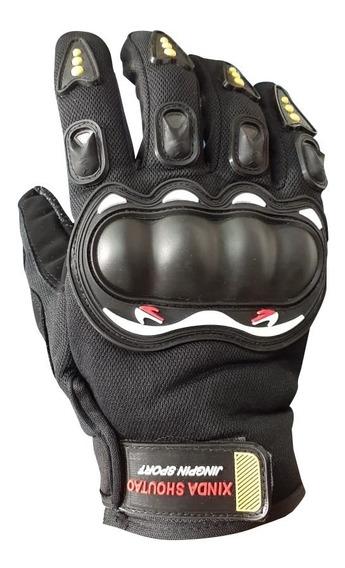 Luva Motoqueiro Motocross Motociclista Emborrachada Proteção