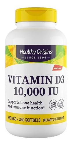 Vitamina D3 10,000ui 360 Softgels Healthy Origins Cod. 193