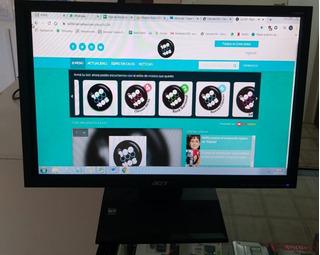 Monitor Lcd Acer V193 C/ Cables -usado - Informática Fyl