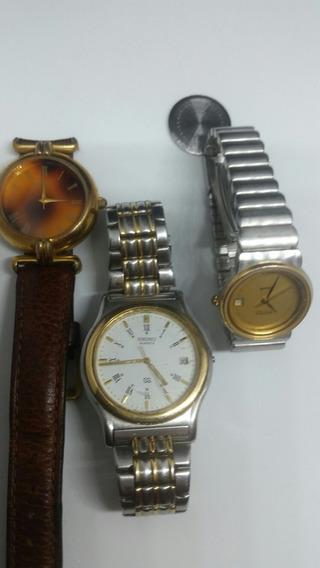 Relógios ,seiko ,amyria E Fossil Total 3 Peças.
