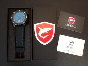 Relógio Shark Azul Silicone