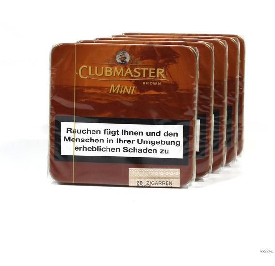Clubmaster Mini Brown X20 Cigarros Cigarrillos Chocolate