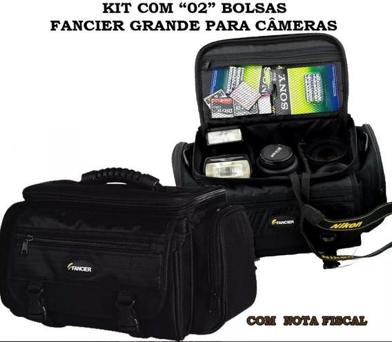Kit 02 Bolsas Fancier Grande Para Câmeras, Nikon, Canon