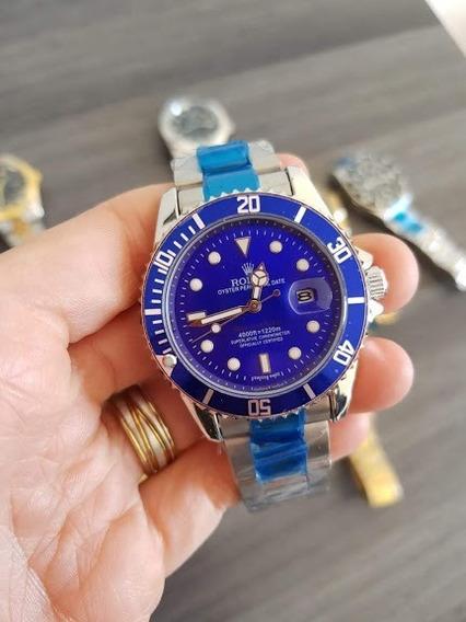 Relógio Masculino Dourado Barato De Luxo Todo Em Aço
