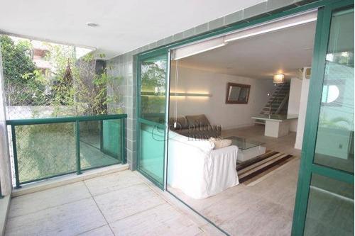 Imagem 1 de 30 de Sambaiba Cobertura Duplex 320m2 - Salões Terraço Piscina 4 Suites Dependencias Vagas Escritura, Ajardinado Prédio Residencial. - Co0633