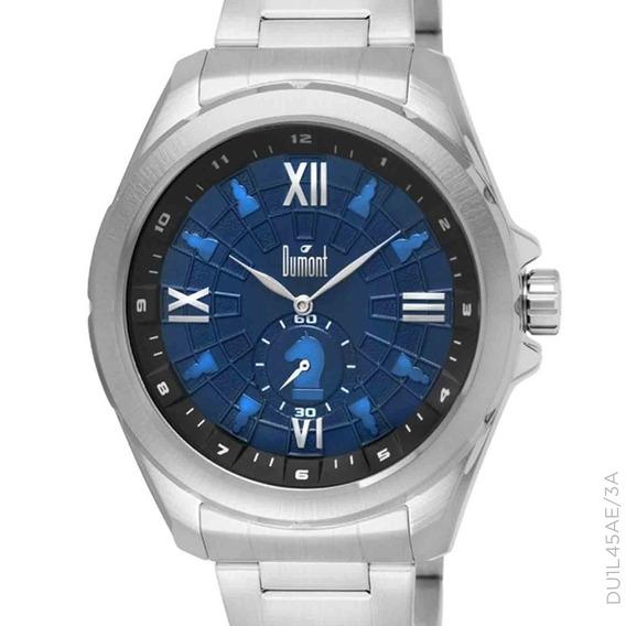 Relógio Dumont Masculino Prateado Du1l45ae/3a + Nf