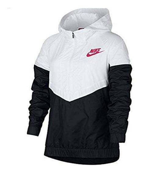 Agasalho Impermeável Nike Branco Preto