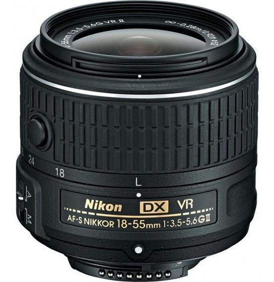 Lente Nikon Af-p Dx 18-55mm F/ 3.5-5.6g Vr Câmeras Compatíve