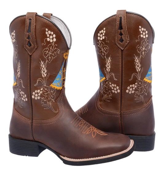 Botas Texana Nossa Senhora Aparecida Couro Franca Calçados